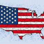 USA rytý styl — Stock vektor