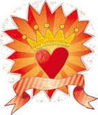 Crowned heart — Stock Vector