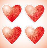 Ornamental hearts — Stock Vector