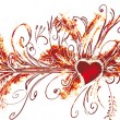 Royalty-Free Stock Vector Image: Big valentine flourish