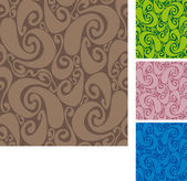 Seamless swirls pattern II — Vecteur