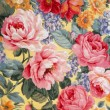 Floral Fabric 01 — Stock Photo