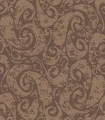 Dikişsiz paslı swirls desen — Stok Vektör
