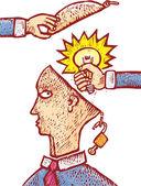 çalınan fikir — Stok Vektör