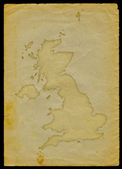 UK map on old paper II — ストック写真