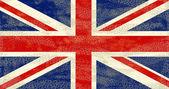 Bandeira do reino unido de grunge — Foto Stock