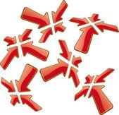 Flechas de perspectiva — Vector de stock
