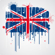 Melting UK flag — Stock Vector