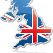 UK placard — Vector de stock #4829134