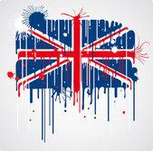 Tání britské vlajky — Stock vektor