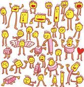 Thirtysix personagens — Vetorial Stock