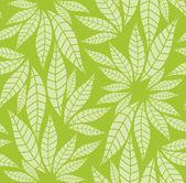 Modello di foglie senza soluzione di continuità — Vettoriale Stock