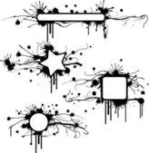 Gekleurd grunge frames — Stockvector
