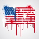 Melting USA flag — Stock Vector