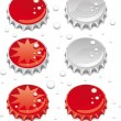 bottle caps — Stock Vector