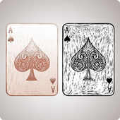 Ace of spades — Vector de stock