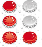 Bottle caps — Vector de stock