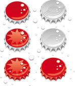Capsules de bouteilles — Vecteur