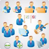 Użytkownik zestaw i — Wektor stockowy