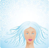 Winter woman — Stock Vector