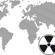 Nuclear world — Stock Vector