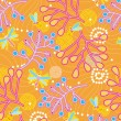 Stock vektor: Mosquitos and plant branches seamless pattern