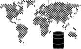 Oil barrel world — Stock Vector