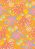 Mosquitos and plant branches seamless pattern — Vecteur