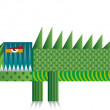 Colorful Crocodile — Imagen vectorial