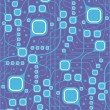Seamless motherboard style pattern — Stockvectorbeeld