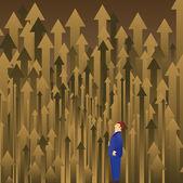 Beslut skog — Stockvektor
