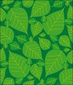 葉のシームレスなパターン — Stock vektor