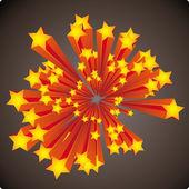 Stars explosion — Stock Vector