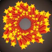 Stars swirl — Stock Vector