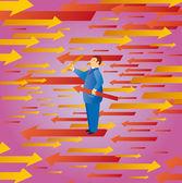 Coletando flechas — Vetorial Stock