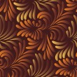 Leaves seamless pattern — Stockvectorbeeld