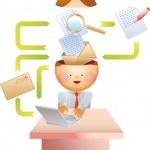 E-mail process — Stock Vector
