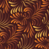 Leaves seamless pattern — Vecteur
