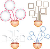 Grafici di quattro idee — Vettoriale Stock