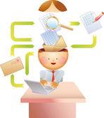 Proceso de correo electrónico — Vector de stock