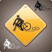 スポーツ事故、バイク — ストックベクタ
