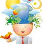 環境思想 — ストックベクタ #5040576