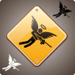 Warning! Armed Angel Ahead! — Stock Vector