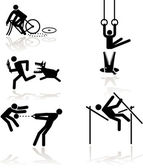 Humor olympic games - 1 — Vector de stock