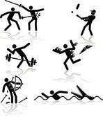 Humor olympische spiele - 2 — Stockvektor