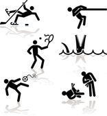 ユーモア オリンピック - 3 — ストックベクタ