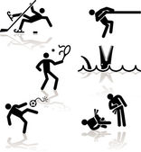 Mizah olimpiyat oyunları - 3 — Stok Vektör