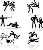 Humor olympische spelen - 4 — Stockvector