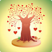 Old Love Tree — Stock Vector
