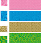 Asian traditional, seamless patterns - set 01 — ストックベクタ